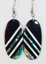 Mother Of Pearl Dangle Earrings Stefano Silver Plate Factory Direct Prices