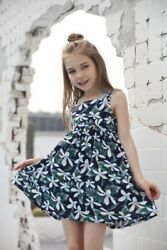 Floral New style summer girls sling sleeveless flower pattern cool girls dress $16.99