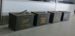 US Military Surplus 50 CAL M2A1 Ammo Can LOT OF 4  Airtight Steel 12x6.5x7.5