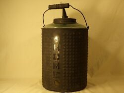 Rare Antique Home Glass / Tin Oil Can Kerosene Can Bottle Early Gas And Oil