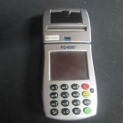 First Data Fd400ti Wireless Credit Card Reader W/ Battery Touch Screenk5