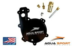 Sea Doo 1.5l Rotax 4tec Water Pump Cover For Open Loop Cooling Black Finish