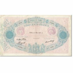 [601643] France 500 Francs 500 F 1888-1940 And039and039bleu Et Roseand039and039 1937 1937-03-11