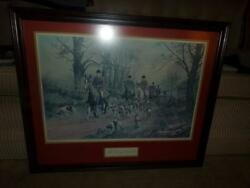 George Wright The Pink Of Condition Frame Art Work, Fox Hunt Rare
