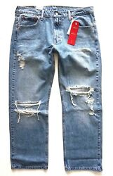 Leviand039s Nwt 569 Distressed Judy Warp Stretch Loose Straight Jeans 005690273