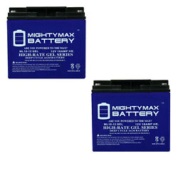 Mighty Max 2 Pack - 12v 18ah Gel Battery For Kaddy O Matic 266 E-trolley