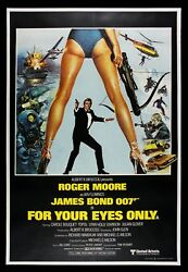 For Your Eyes Only ✯ Cinemasterpieces 1981 James Bond Rare Original Movie Poster