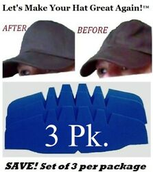 3Pk. Caps Crown Inserts Fitted Cap Support Hat Liner Shaper  Hat Storage Aide