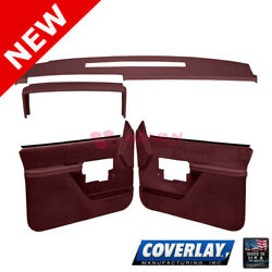 Maroon Interior Accs. Kit 18-606c38f-mr For Blazer Front Left Right -coverlay