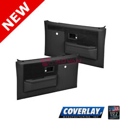 Black Replacement Door Panel Coverlay 18-35n-blk For C10 Manual Window And Lock