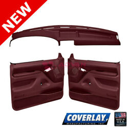 Maroon Interior Accs. Kit 12-115c92f-mr For Bronco Front Left Right -coverlay