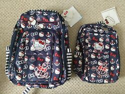 NWT set of 2 mommy and me Jujube Hello Kitty Out to Sea Minibe and brb backpacks