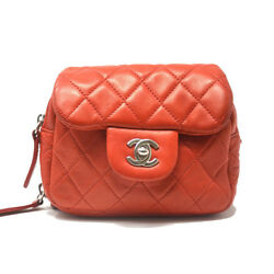 Chanel Ultimate Mini Flap WOC Red Leather Crossbody Bag