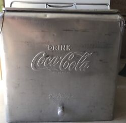 Vintage Acton Mfg. Coca Cola Coke Ice Cooler/chest W/ Bottle Opener And Drain