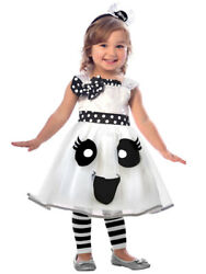 Spooky Toddlers Cute Ghost New Fancy Dress Costume Halloween Kids Girls Casper