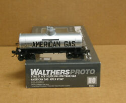 Walthers 920-100501 Ho American Gas Type 21 Acf 10k Gallon Tank Car 1547 Reduce