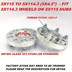 2 Pieces 1 Hubcentric Wheel Adapters 25mm 5x115 To 5x4.5 Or 5x115 To 5x114.3