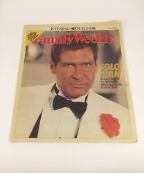 Harrison Ford Evening Outlook Newspaper Family Weekly Magazine May 19 1984 Rare