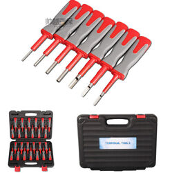 25Pcs Car Terminal Wiring Crimp Connector Pin Remove Release Hand Tool with Box