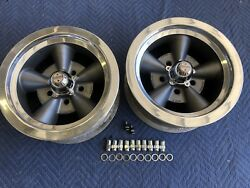Vintage Pair Of Mark 11 5 Spoke Torque Thrust Style 14x6 4 3/4 Chevy Hotrod