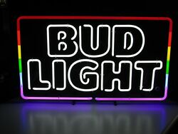 Pick Up Only New Bud Light Gay Pride Rainbow Lgbt Beer Bar Neon Light Sign
