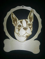 Personalized Boston Terrier dog ornament