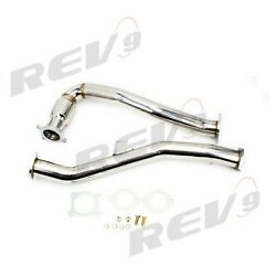 Rev9 Dp-026a Stainless Steel Turbo Downpipe High Flow Catalyst For 15-18 Wrx Mt