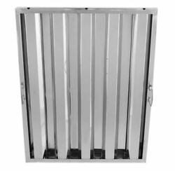 6-pack Restaurant Kitchen Stainless Commercial Exhaust Hood Vent Grease Filters