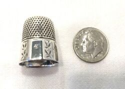 Sterling Silver Thimble Size 9-simon Bros.and Co.-sewing-crafts.     2036