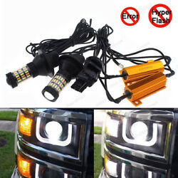 4x Plug&Play Switchback Front Parking Signal LED & Resistor for 14-15 Silverado