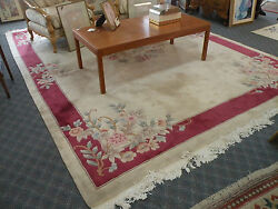 Plush Floral Area Rug With Border 9and039 X 12and039