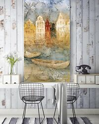 3d Town Boat Scenery 56 Wall Paper Wall Print Decal Wall Deco Indoor Mural Lemon