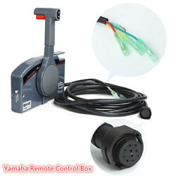PUSH Boat Outboard Remote Control Box for Yamaha Engine 10Pin Cable Right Side