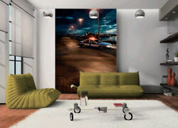 3d Police Car Street 5 Wall Paper Wall Print Decal Wall Deco Indoor Mural Summer