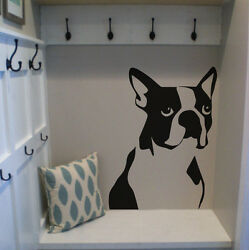 Boston Terrier Dog Wall Vinyl Decal Sticker