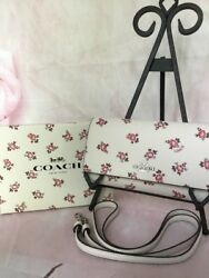 COACH NWT FLORAL BLOOM CELL PHONE CROSSBODY BAG PURSE WALLET GIFT BOX