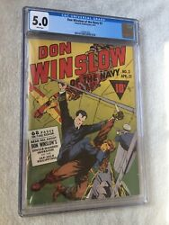 Don Winslow Of The Navy 3 Cgc 5.0 White Pages 1943 And Free Full Color Photocopy