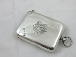 Antique Solid Silver  Sovereign Case Vesta Combined  Hallmarked Chester 1908