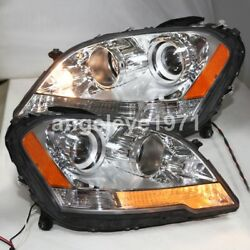 Chrome Housing Yellow Reflector W164 ML280 ML320 ML350 Head Lights 2009-11 Year