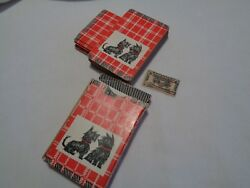 vintage deck scottie playing cards no jokers 5 cards have tiny missing corners