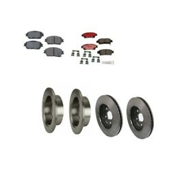 Fits Toyota Sienna 1/03-10 Brake Kit Front+rear Brake Rotors With Pads Brembo