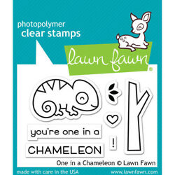 Lawn Fawn Clear Acrylic Stamps One in a Chameleon lf1549