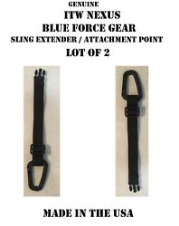 Itw Fastex Tac Link Carabiner Blue Force Gear Rifle Sling Extender Lot Of 2 New