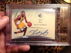 HIGH END BGS 9.5 WITH 10 CENTERING 10 AUTO 2007 KEVIN DURANT SP AUTHENTIC RC 399