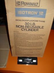 ISOTRON BRAND PURE VIRGIN R-12 REFRIGERANT NEW OLD STOCK FULL 30 POUNDS