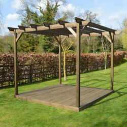 Wooden Pergola And Decking Kit - Outdoor Garden Structure - 5 Sizes Available