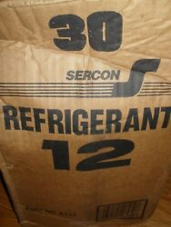 SERCON BRAND PURE VIRGIN R-12 REFRIGERANT NEW OLD STOCK USA MADE 30LBS.
