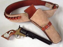 Eastwood Spaghetti Western Gun Belt Holster And Colt Navy Gun With Snakes
