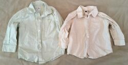 Daily Tea Collection Brother Coordinate Shirt Lot 3t 18-24 Button Front Pictures