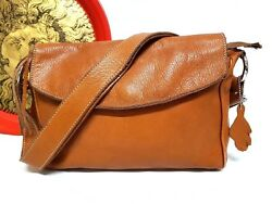 ROOTS CANADA BROWN LEATHER CROSSBODY SHOULDER BAG